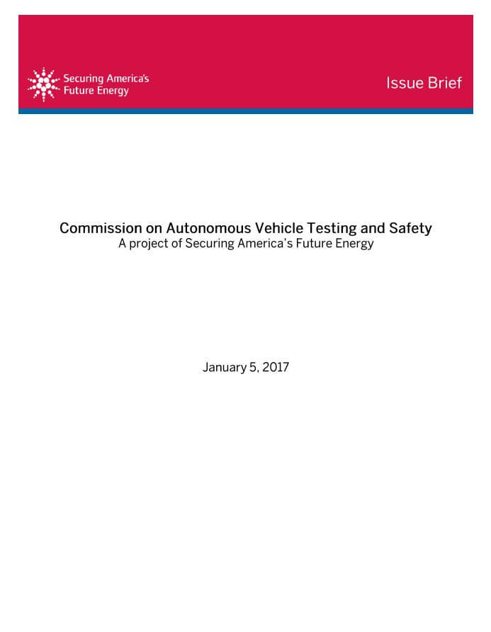 Commission on Autonomous Vehicle Testing and Safety